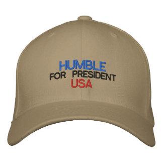 Humble para o presidente boné bordado