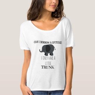 Humor animal: Elefante eu tenho um tronco pequeno Camiseta