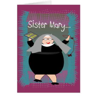 Humor católico da freira de Cards~~Silly da freira Cartão Comemorativo
