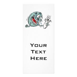 humor com fome selvagem engraçado da bola de bolic panfletos informativos personalizados