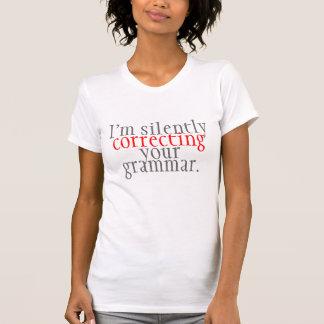 humor corrigindo a gramática camisetas
