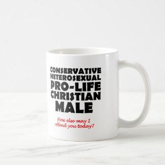 Humor cristão masculino Prolife ofensivo da caneca
