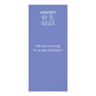 Humor da acupunctura 10.16 x 22.86cm panfleto