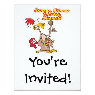 humor da ironia do comensal da galinha do vencedor convite personalizados