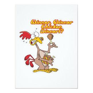 humor da ironia do comensal da galinha do vencedor convites