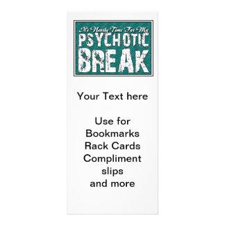 Humor da saúde Psychotic e mental Panfletos Informativos Personalizados