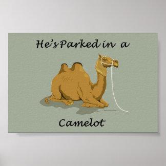 Humor de Camelot do camelo Pôster