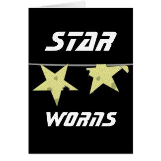 Humor de Worns da estrela Cartões