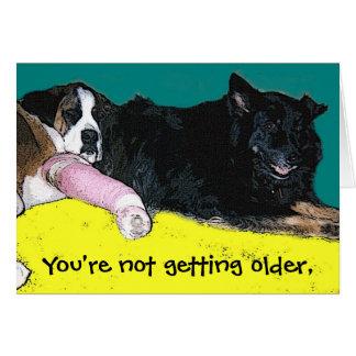 Humor do cão do cartão de aniversário