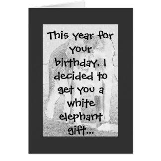 Humor do elefante cartão comemorativo