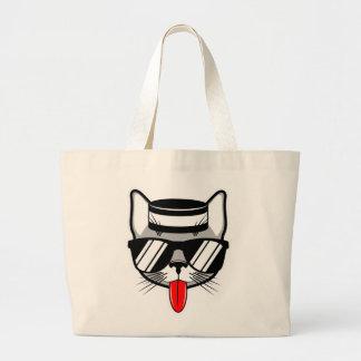 Humor do gato do Jailbird Sacola Tote Jumbo
