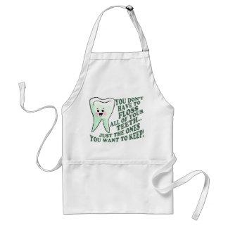 Humor do higienista dental do dentista avental
