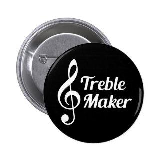 Humor do Musical do fabricante do triplo Bóton Redondo 5.08cm
