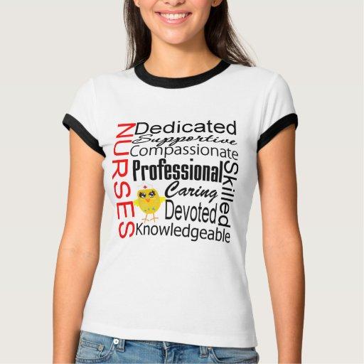 Humor do pintinho - colagem do reconhecimento das camiseta