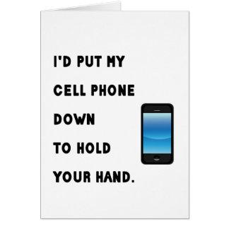 Humor do telemóvel cartão comemorativo