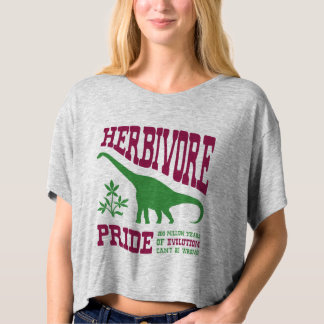 Humor do vegetariano do dinossauro do herbívoro camiseta