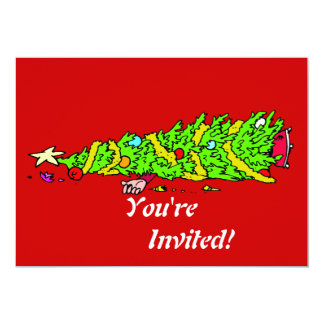 Humor engraçado da árvore de Natal Convite Personalizados