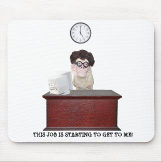 Humor engraçado do escritório do cão mouse pad