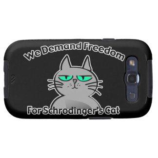 Humor engraçado do geek do gato de Schrodinger Capinhas Samsung Galaxy S3