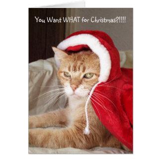 Humor mal-humorado engraçado do cartão de Natal do