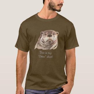"Humor minha camisa da ""lontra"", natureza animal da"