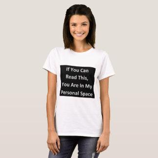 humor pessoal engraçado do espaço camiseta