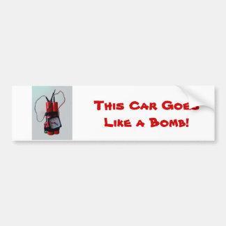 Humor preto - bomba trocista adesivo para carro