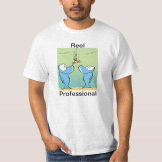 Humor profissional da pesca do carretel t-shirts