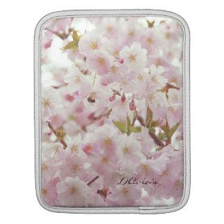 Humor romântico - tons macios, flores de cerejeira bolsa para iPad