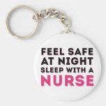 Humor Sassy preto cor-de-rosa da enfermeira Chaveiro