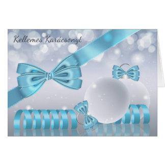 Húngaro - ornamento do cartão do Natal