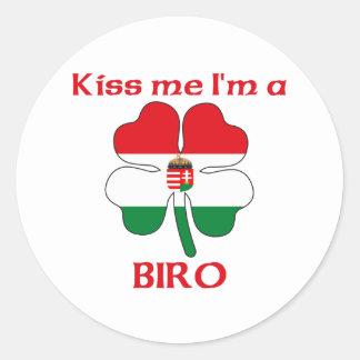 Húngaros personalizados beijam-me que eu sou Biro Adesivo Redondo