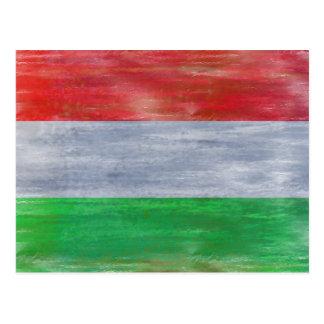 Hungria afligiu a bandeira húngara cartão postal