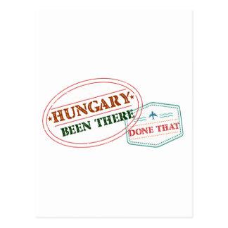 Hungria feito lá isso cartão postal