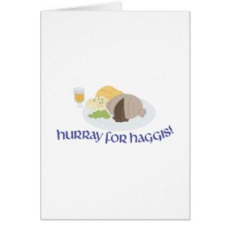Hurray para Haggis! Cartão Comemorativo