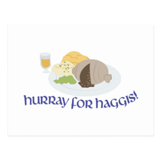 Hurray para Haggis! Cartão Postal