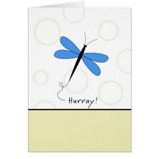 Hurray - último círculo de Chemo Cartão Comemorativo