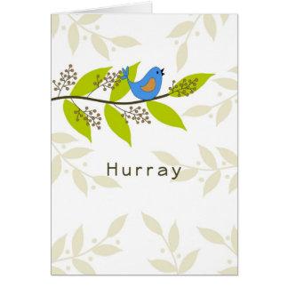 Hurray-Último tratamento de radiação Cartão Comemorativo