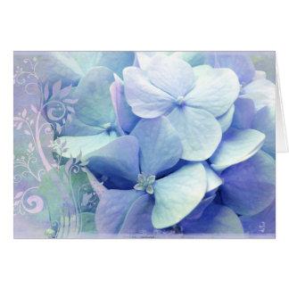 Hydra Lavanda-Azul do cartão da felicidade