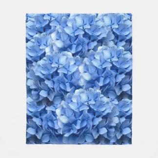 Hydrangea azul cobertor de lã