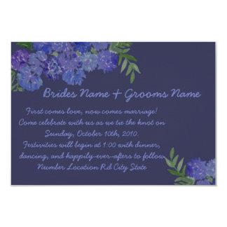 Hydrangea azul convite 8.89 x 12.7cm