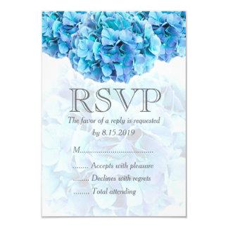 Hydrangea azul que wedding o cartão de RSVP