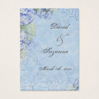 Hydrangea azul - Tag do presente do favor do Cartão De Visitas