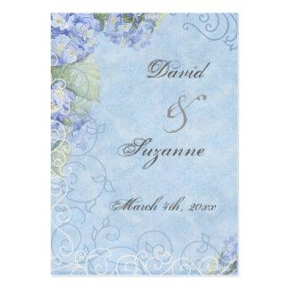 Hydrangea azul - Tag do presente do favor do casam Cartão De Visita