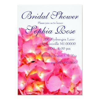 Hydrangea cor-de-rosa convite 12.7 x 17.78cm
