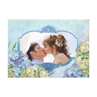 Hydrangea da aguarela floral - personalize impressão de canvas esticadas