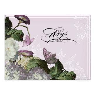 Hydrangea da corriola - cartão RSVP do casamento