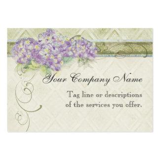 Hydrangea do Lilac do olhar do vintage - cartões d Modelos Cartão De Visita