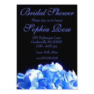 Hydrangea dos azuis cobaltos convite 12.7 x 17.78cm