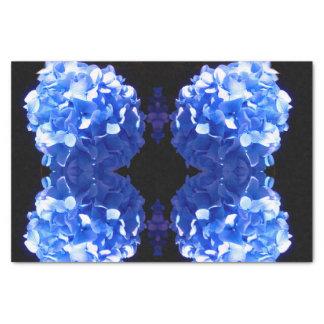 Hydrangea dos azuis cobaltos papel de seda